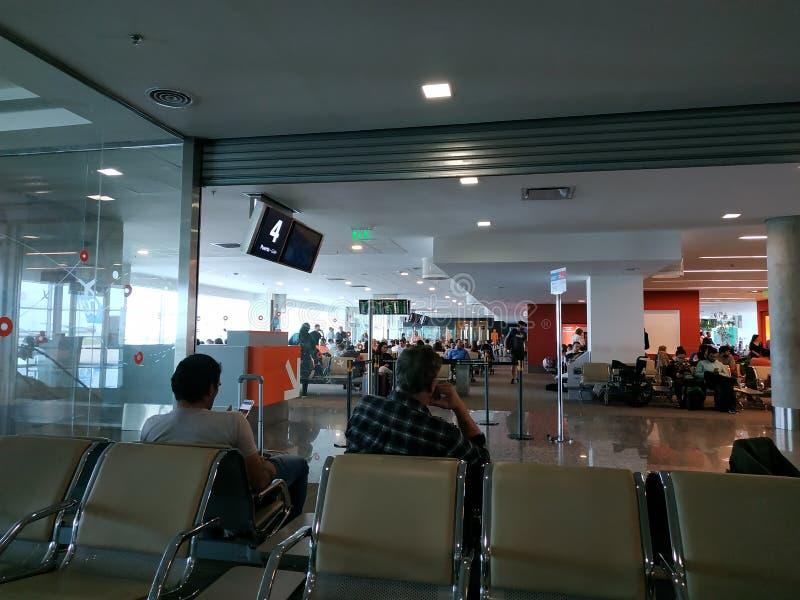 Aeropuerto internacional del rdoba del ³ de Pajas Blancas CÃ en la Argentina fotografía de archivo