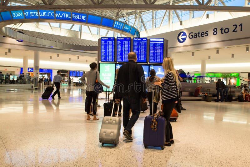 Aeropuerto internacional del terminal JFK de JetBlue foto de archivo