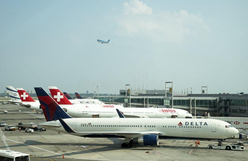Aeropuerto internacional Nueva York los E.E.U.U. de JFK fotos de archivo libres de regalías