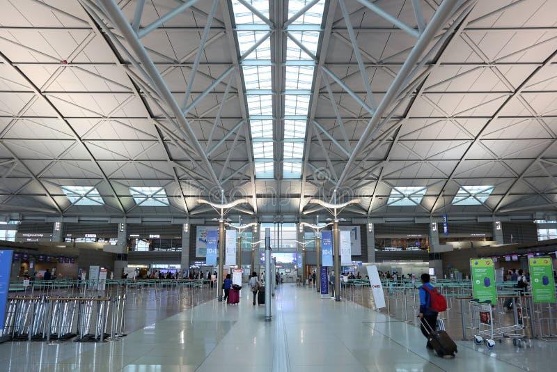Aeropuerto internacional terminal de Seul Inchon foto de archivo