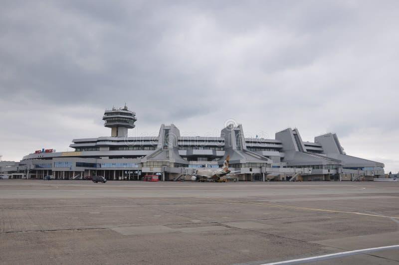 Aeropuerto nacional de Minsk fotos de archivo