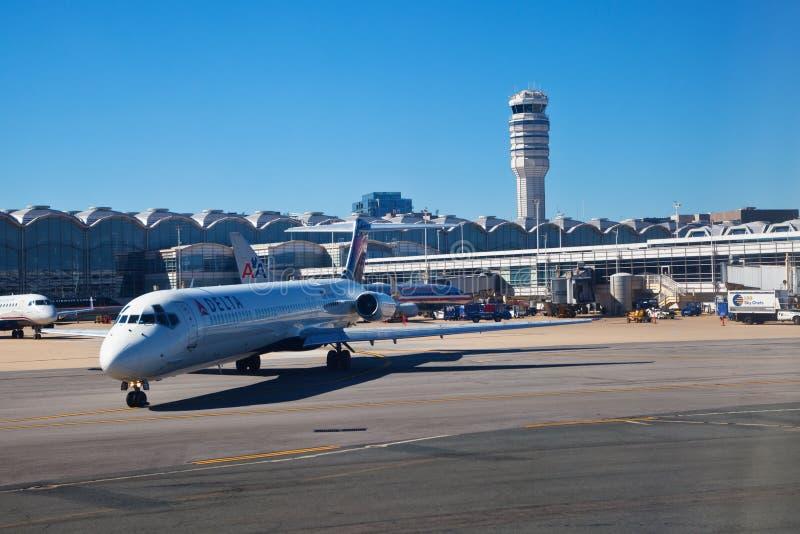 Aeropuerto nacional de Ronald Reagan fotos de archivo libres de regalías