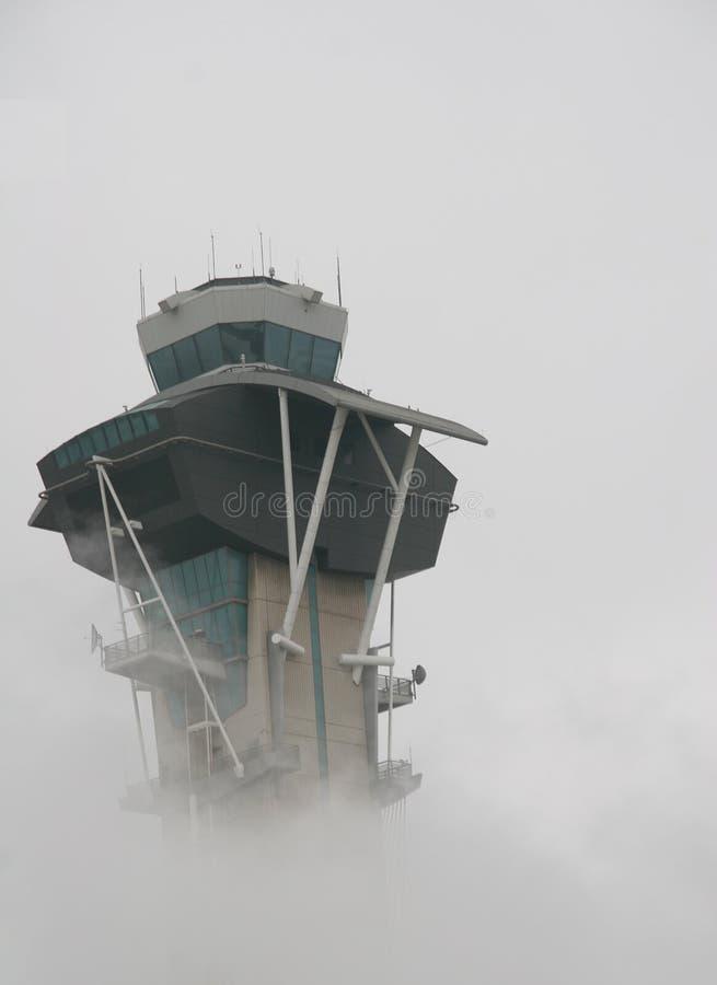 Aeropuerto Smoggy imágenes de archivo libres de regalías