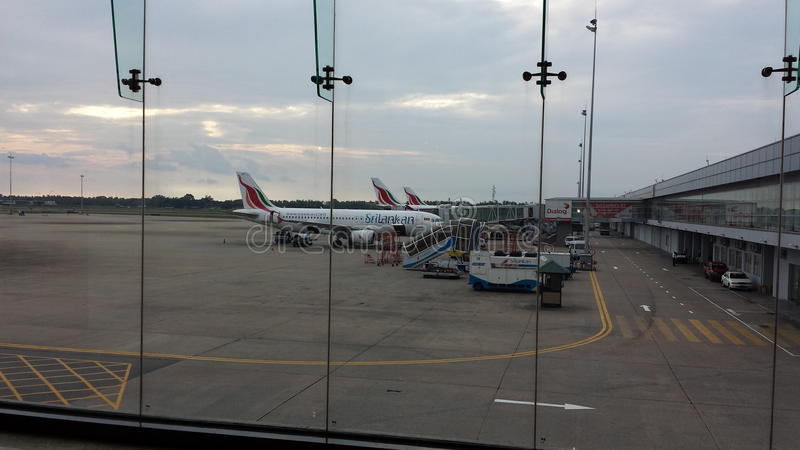 Aeropuerto Sri Lanka de Katunayake imágenes de archivo libres de regalías