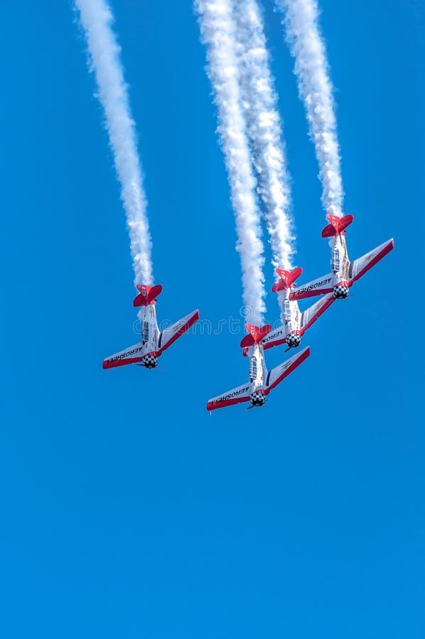 AeroShell aerobatic Teamflugzeuge lizenzfreies stockbild