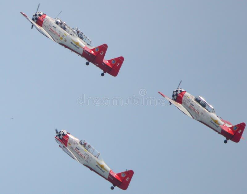 Aeroshell det Aerobatic laget arkivfoto