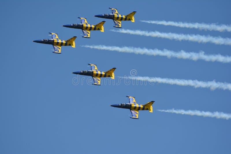 Aeroshow royaltyfri fotografi