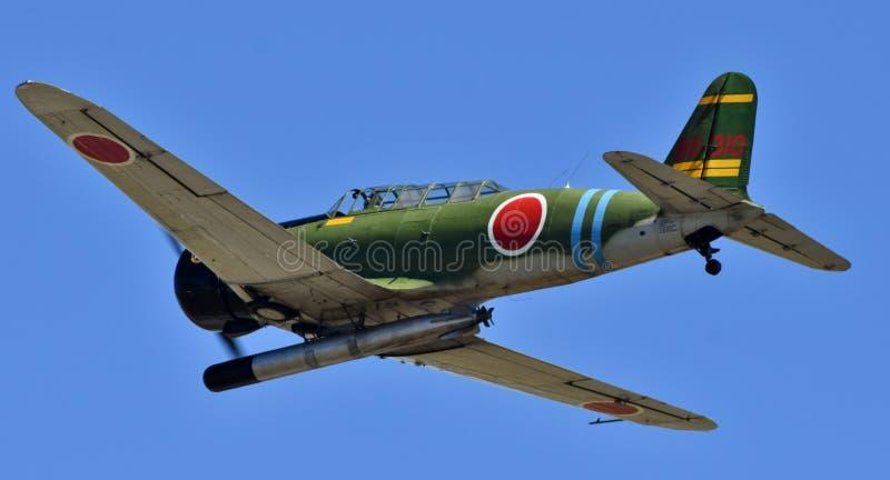 Aerosilurante di Nakajima B5N del giapponese fotografia stock libera da diritti