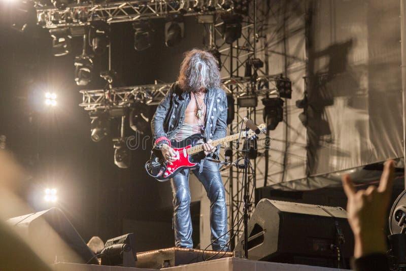 Aerosmith в Москве сентябре 2015 стоковые изображения