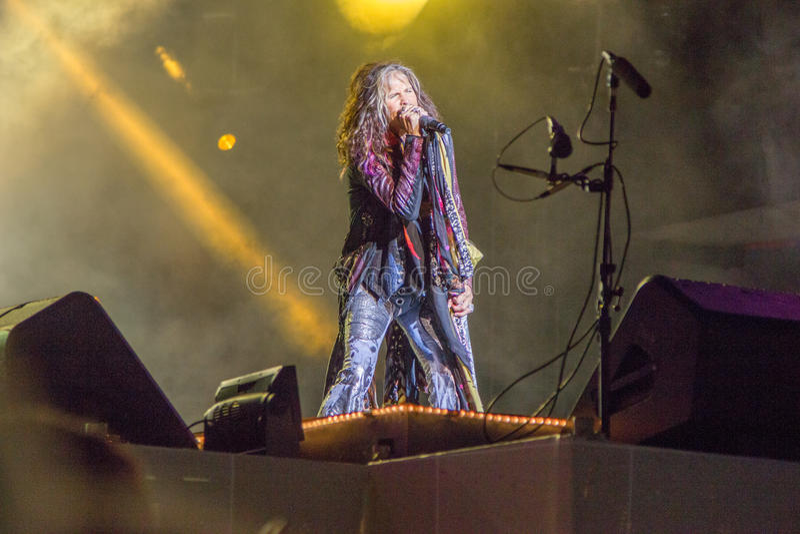 Aerosmith в Москве сентябре 2015 стоковые изображения rf