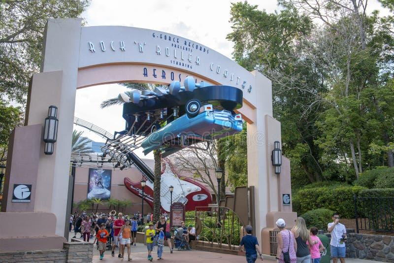 Aerosmith kolejka górska, Disney World, podróż zdjęcia royalty free
