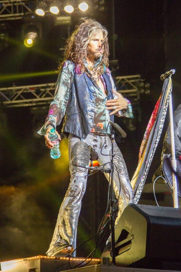 Aerosmith in Moscow September 2015 stock image