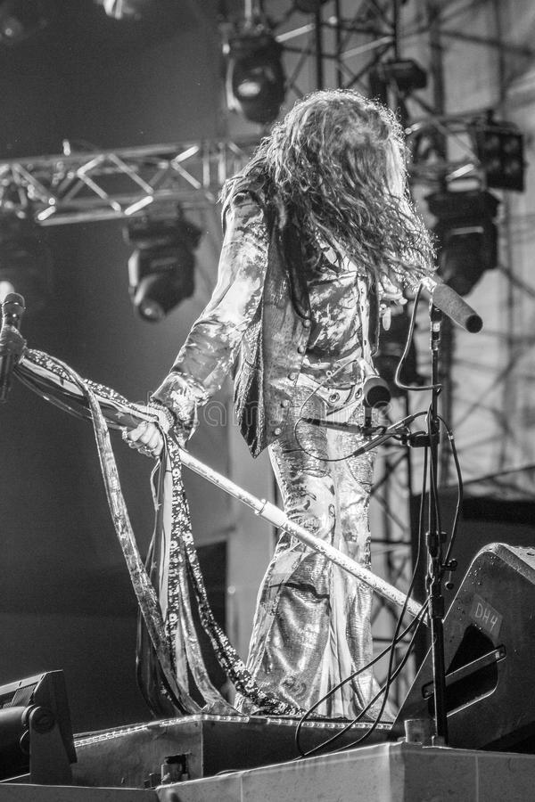 Aerosmith in Moscow September 2015 royalty free stock image