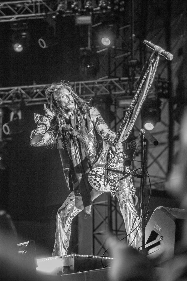 Aerosmith in Moscow September 2015 stock photography
