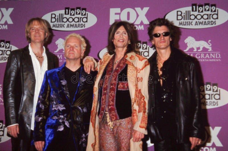 Aerosmith nas concessões 1999 da música do quadro de avisos fotos de stock