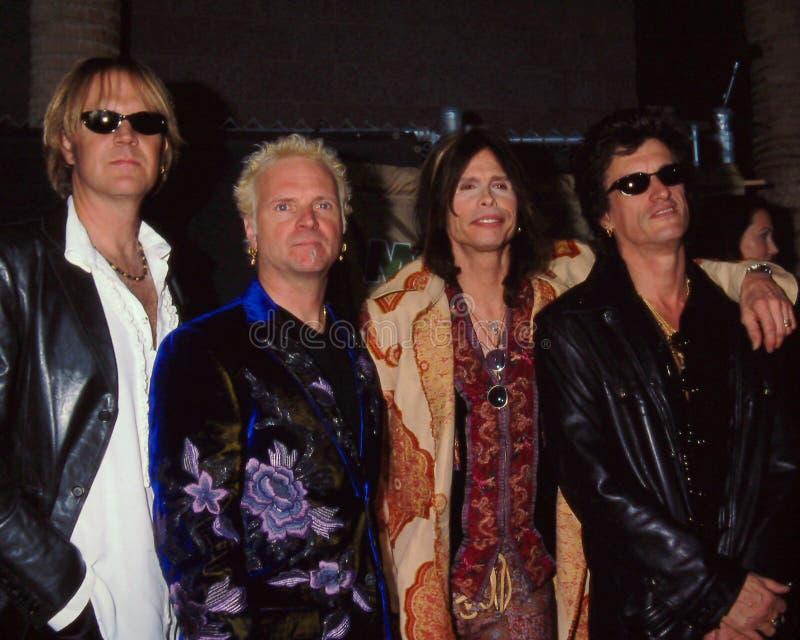 Aerosmith nas concessões 1999 da música do quadro de avisos foto de stock royalty free