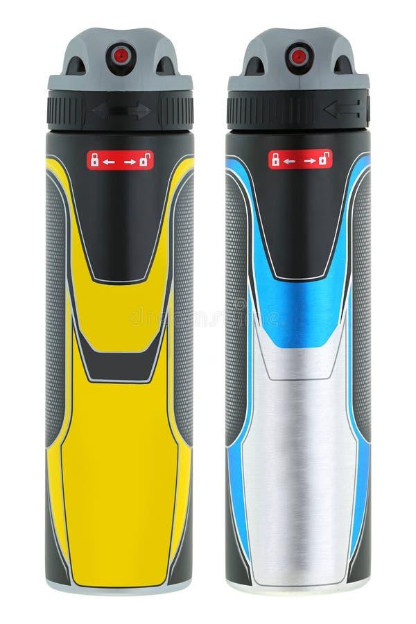 Aerosol antitranspirante del desodorante del espray del cuerpo para el brazo de la axila de los hombres imagen de archivo libre de regalías