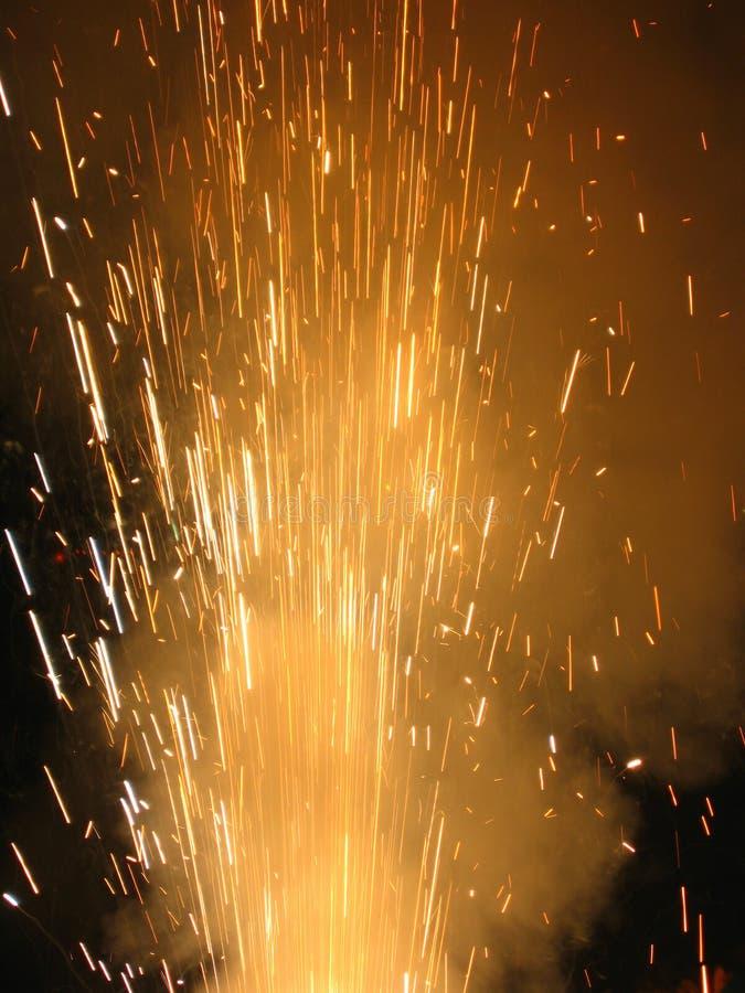 Aerosol de Craker del fuego fotografía de archivo