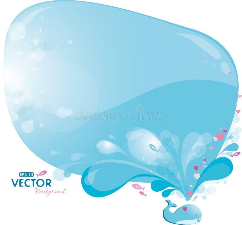 Aerosol de la ballena azul ilustración del vector