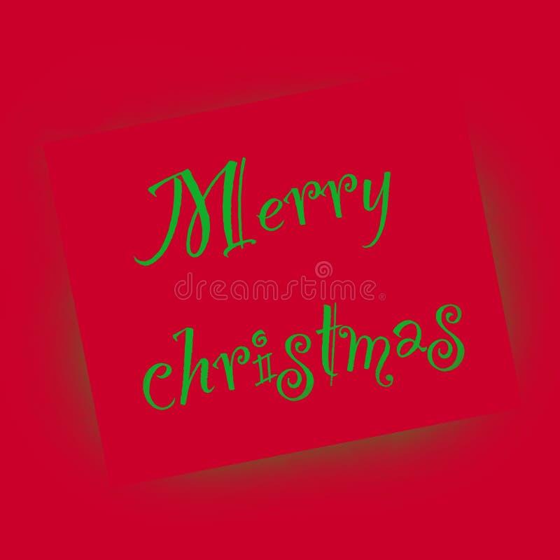 Aerosol de la Feliz Navidad ilustración del vector