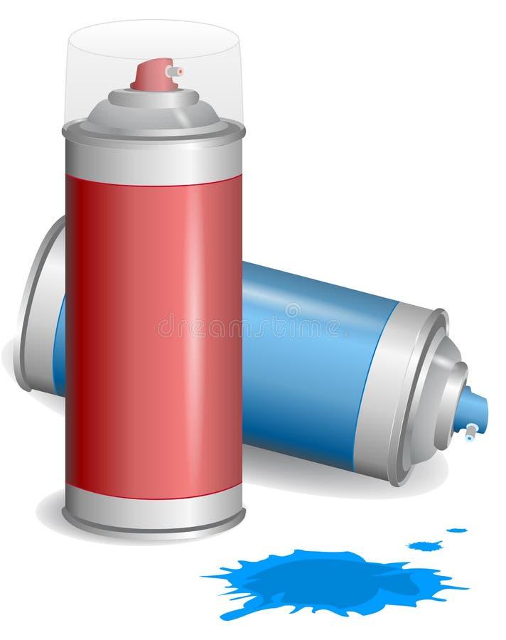 Aerosol de la pintura del aerosol. stock de ilustración