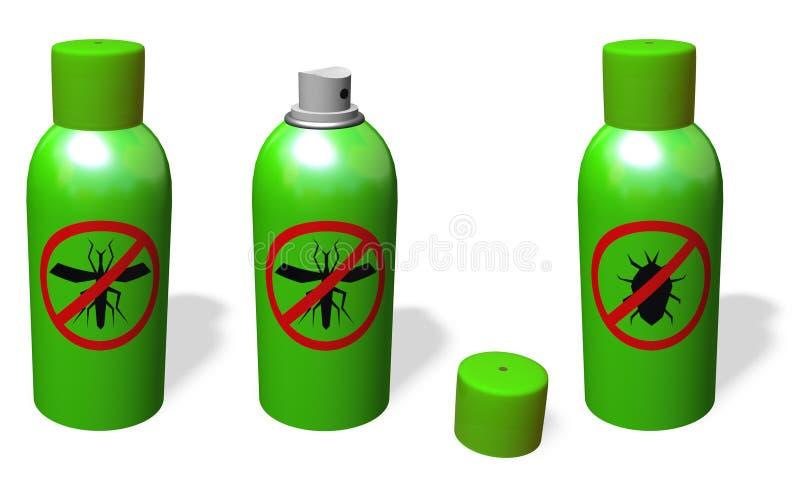 aerosol del Anti-mosquito stock de ilustración