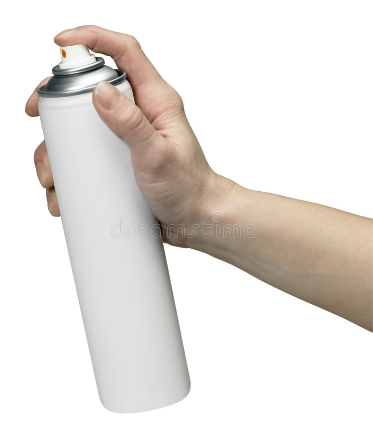 aerosol może target1848_0_ obraz stock