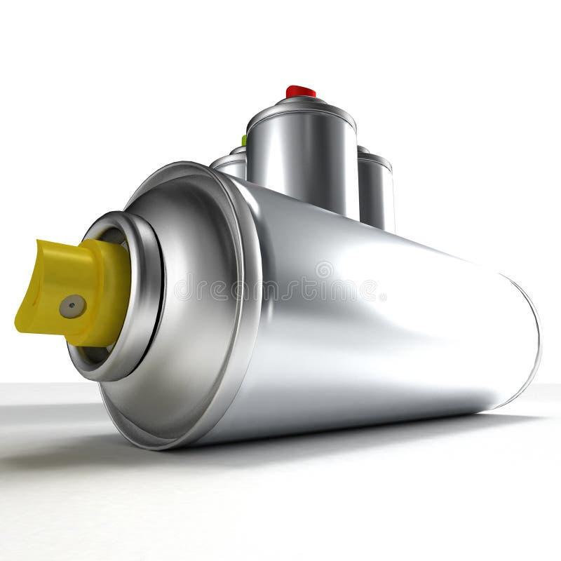 Aerosol Spray cans royalty free illustration