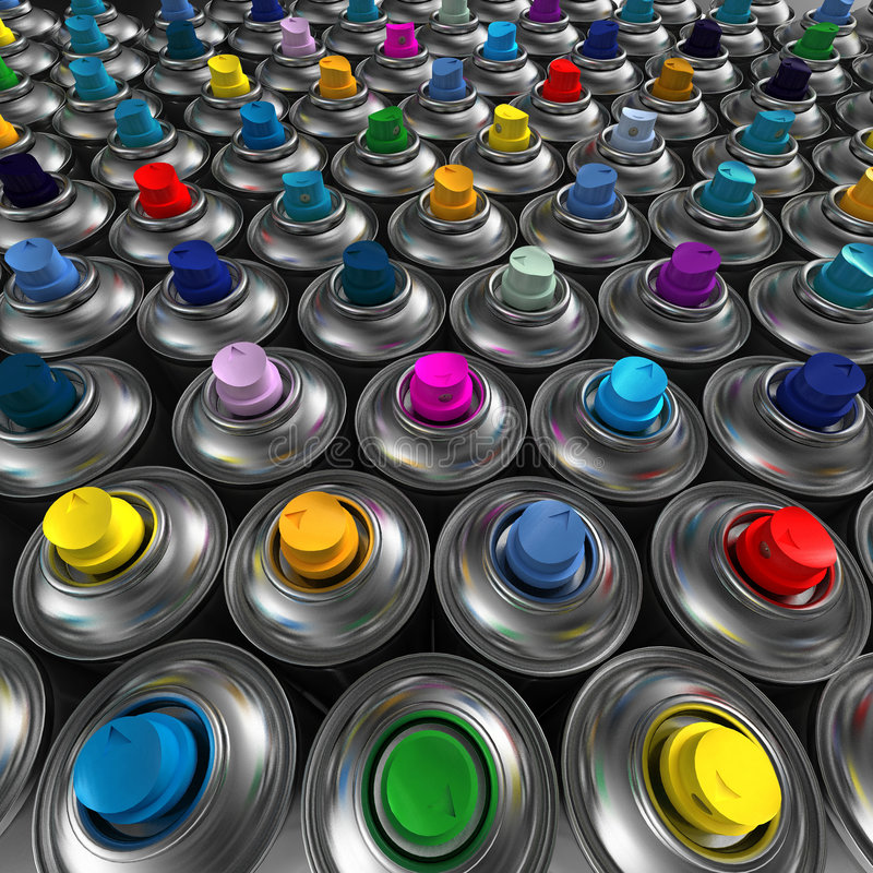 Download Aerosol Spray cans stock photo. Image of painted, creation - 2844012