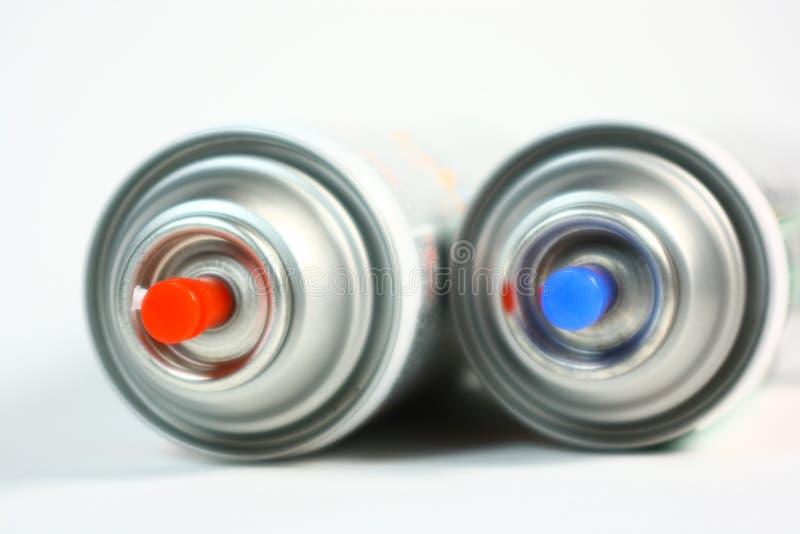 Aerosol Spray Paint Cans stock image