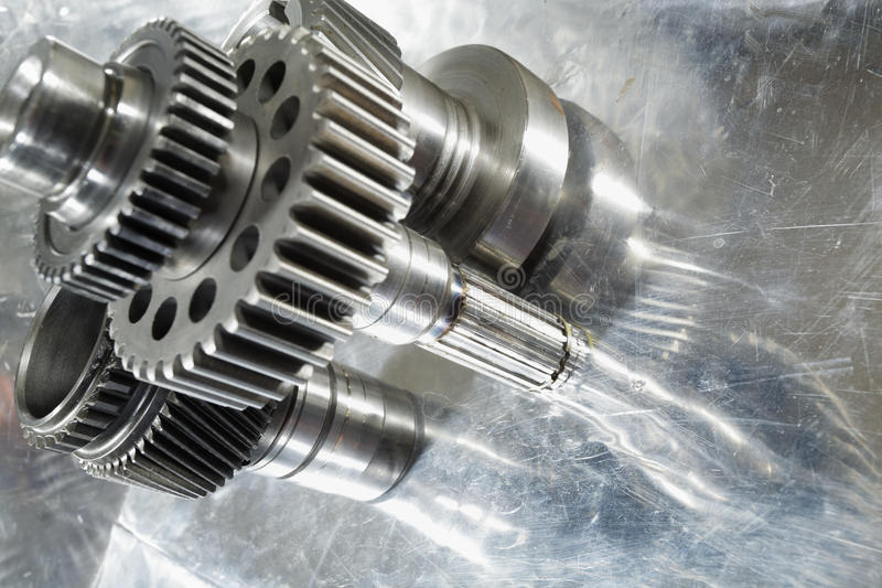 Aerospace gear wheels royalty free stock images