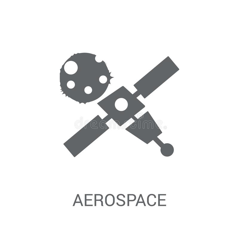 Aerospace icon. Trendy aerospace logo concept on white background from Astronomy collection. Suitable for use on web apps, mobile apps and print media vector illustration