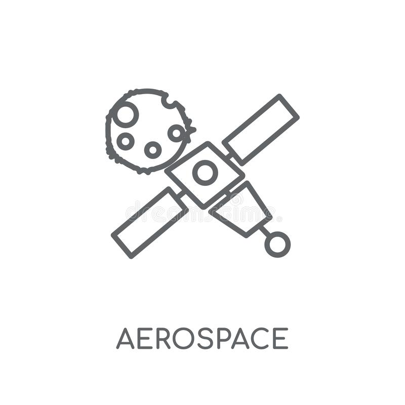 Aerospace linear icon. Modern outline aerospace logo concept on. White background from ASTRONOMY collection. Suitable for use on web apps, mobile apps and print royalty free illustration
