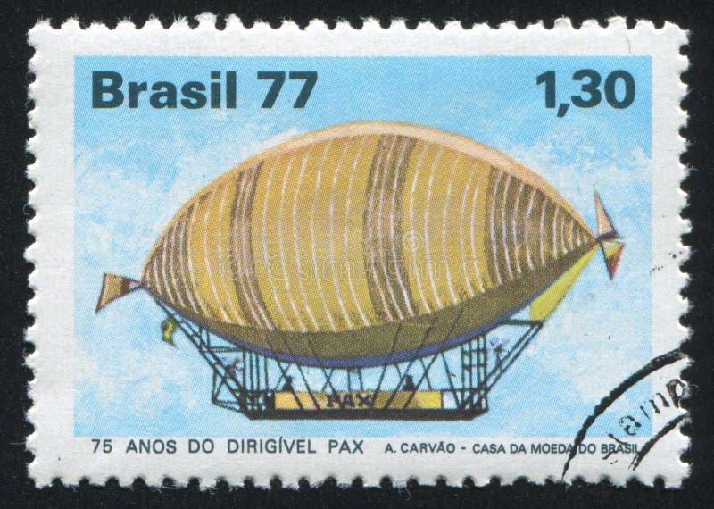 Aerostat. BRAZIL - CIRCA 1977: stamp printed by Brazil, shows aerostat, circa 1977 royalty free stock photo