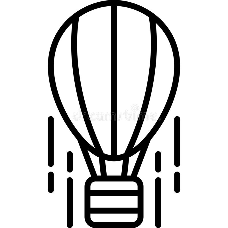 Aerostat Icon Vector vector illustration