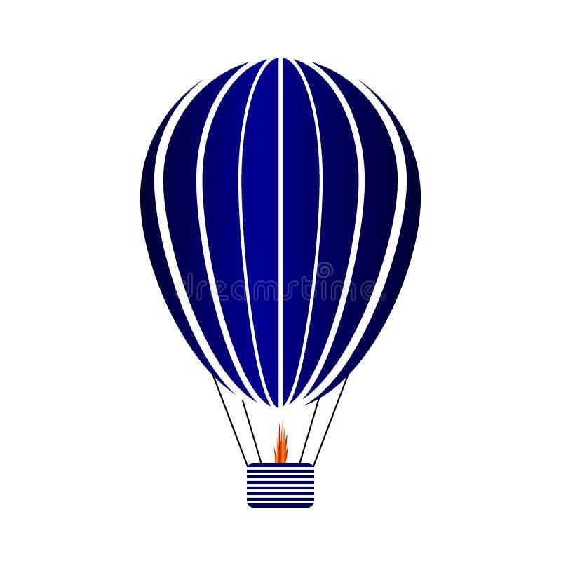 Aerostat ikona na bielu ilustracji