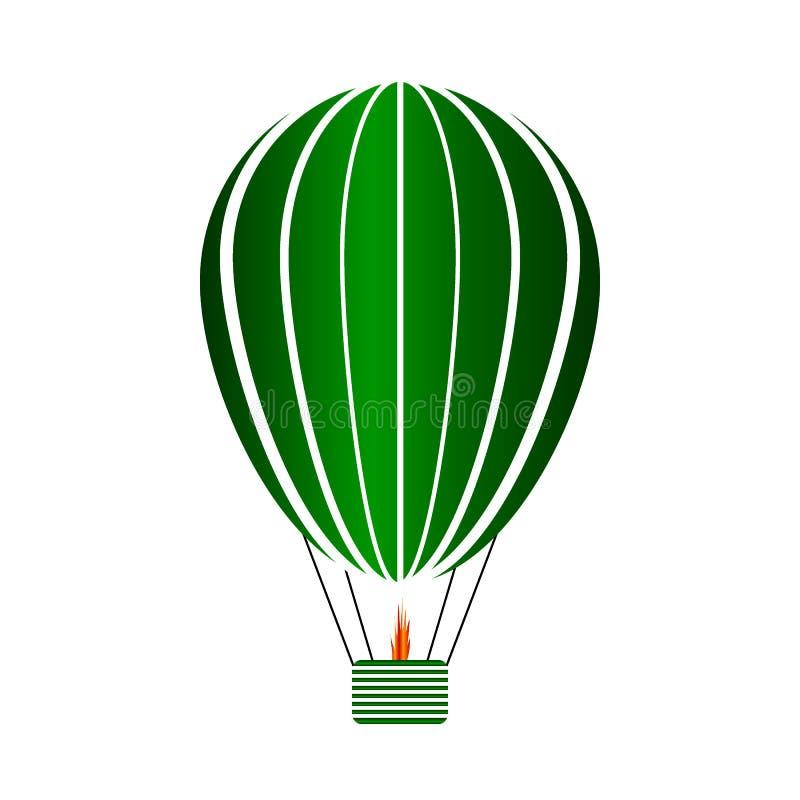 Aerostat ikona na bielu royalty ilustracja