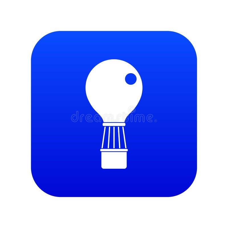 Aerostat ikony cyfrowy błękit royalty ilustracja