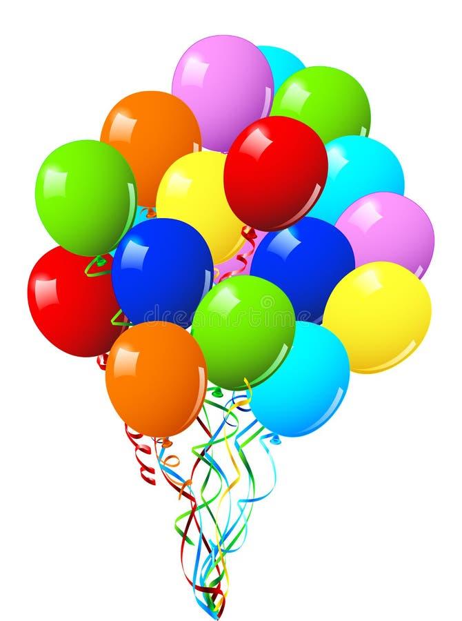 Aerostati della festa di compleanno o di celebrazione royalty illustrazione gratis