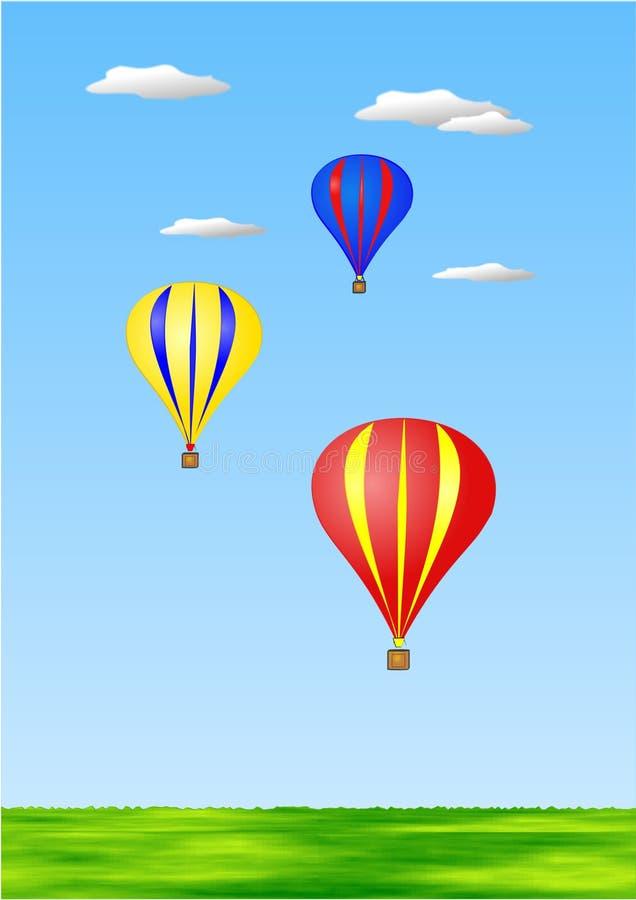 Aerostati di aria calda royalty illustrazione gratis
