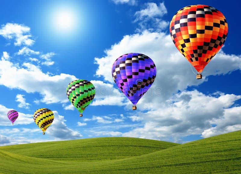 aerostati di aria caldi immagine stock libera da diritti