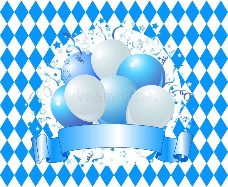 Aerostati di celebrazione di Oktoberfest royalty illustrazione gratis