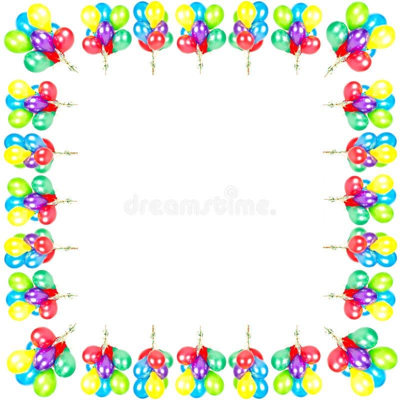 Aerostati di colore. decorazione del partito royalty illustrazione gratis