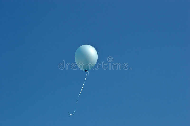 Download Aerostato blu immagine stock. Immagine di aerostato, festa - 204031