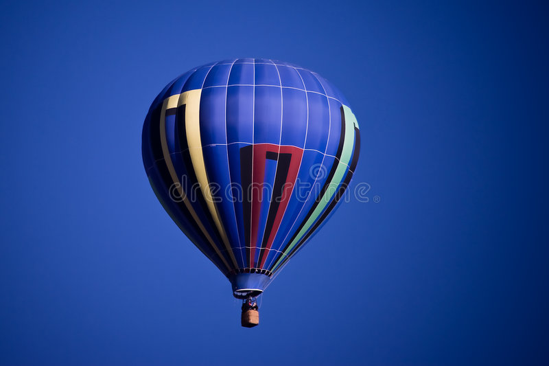 Aerostato blu immagini stock