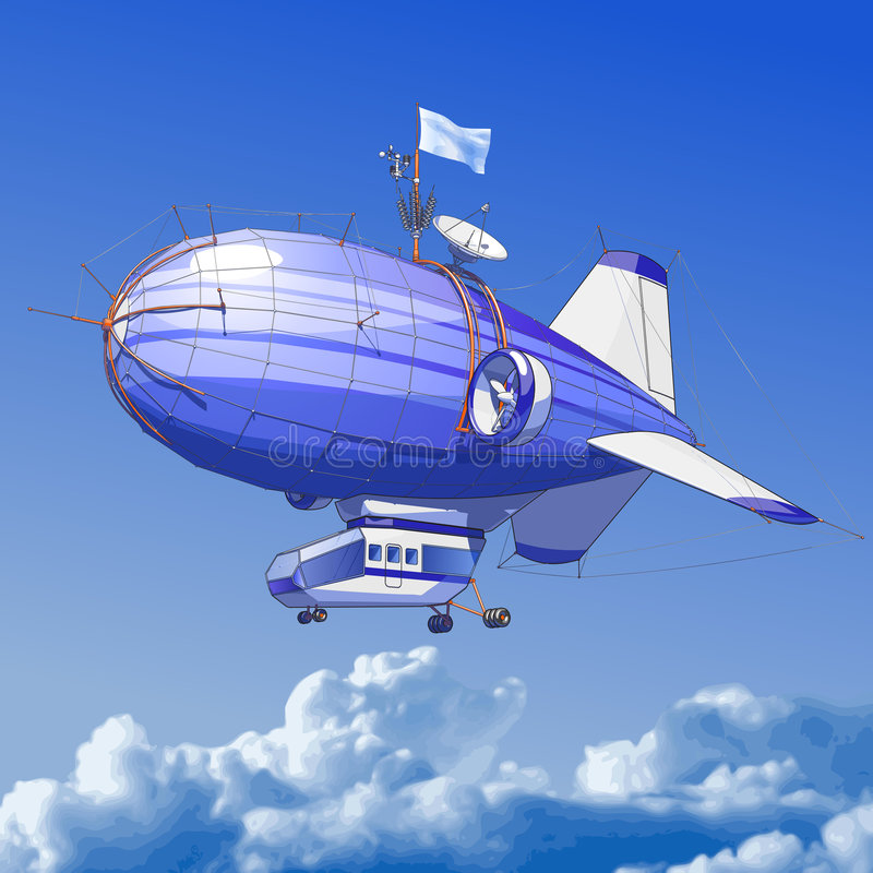 Aerostato di Dirigible illustrazione di stock