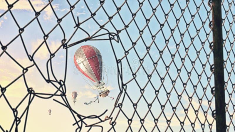 Aerostato en cielo del verano fotos de archivo libres de regalías