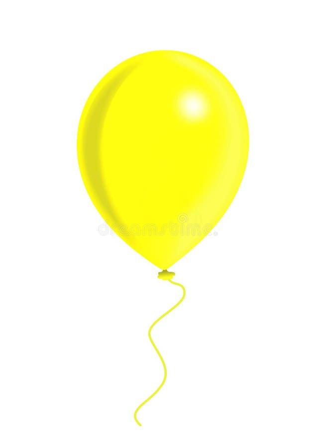 Aerostato giallo royalty illustrazione gratis