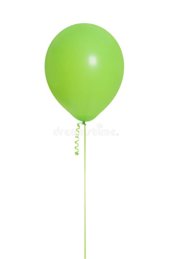 Aerostato verde isolato immagine stock