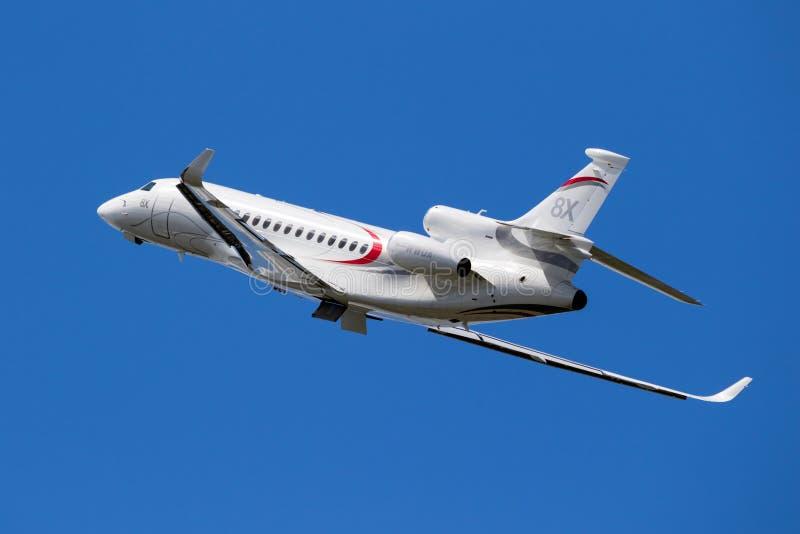 Aerotaxi del falco 8X di Dassault fotografie stock